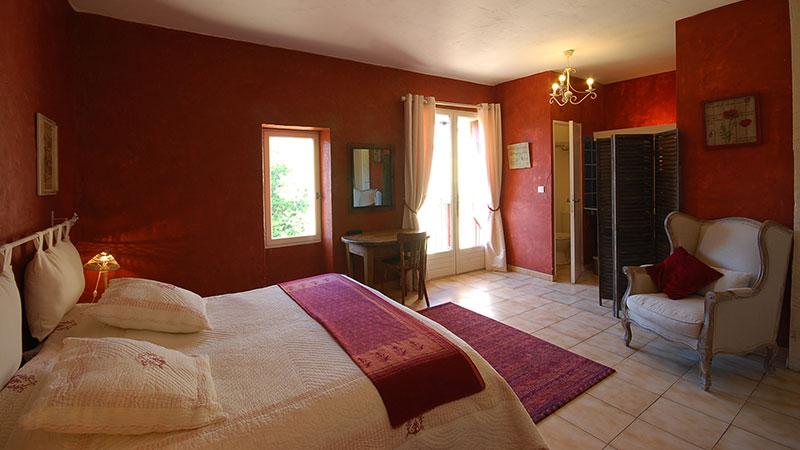 Chambre rouge 2 personnes - Le Catalan